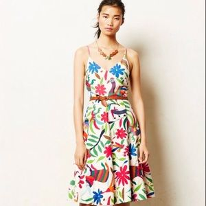 Anthropologie Vanessa Virginia Embroidered Dress